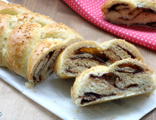 Treccia di pan brioche alla nutella, ricetta golosa con e senza Bimby