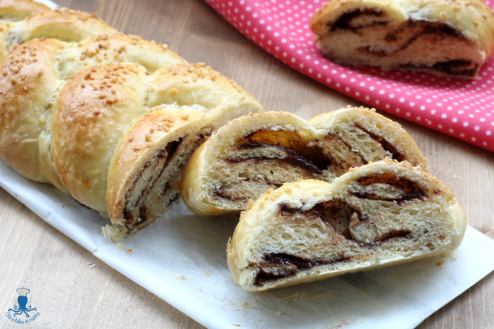 treccia di pan brioche alla nutella2