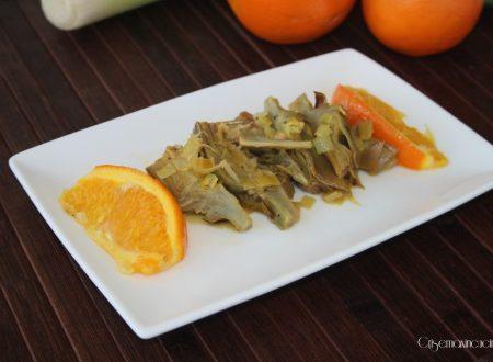 Carciofi con le arance, ricetta veloce