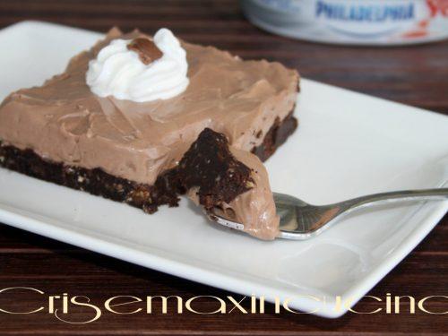 Cheesecake nutella e philadelphia, ricetta senza cottura
