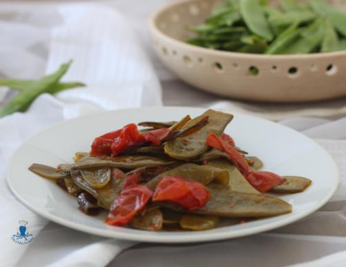 Taccole in umido, ricetta vegetariana facile e veloce