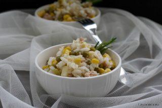 insalata di riso tonno e piselli