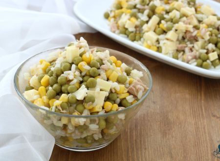Insalata di riso tonno e piselli, ricetta facile e veloce