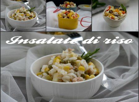 Insalate di riso, ricette varie