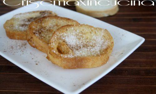 Pane fritto dolce, ricetta del riciclo