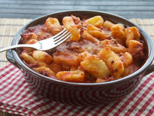 Gnocchi  gratinati al forno, ricetta primo piatto