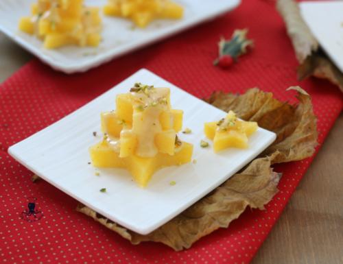 Alberelli di polenta con fonduta, antipasto sfizioso e originale natalizio