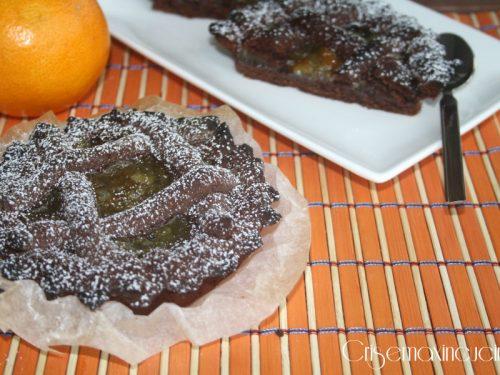 Crostatine al cacao, ricetta con la marmellata
