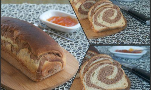 Pane variegato con lievito madre