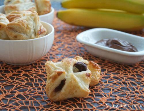 Fagottini con nutella e banane, ricetta dolce