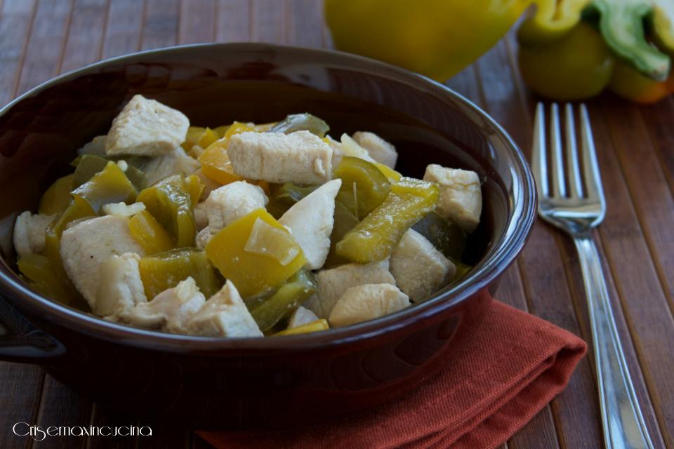petto di pollo con i peperoni 1