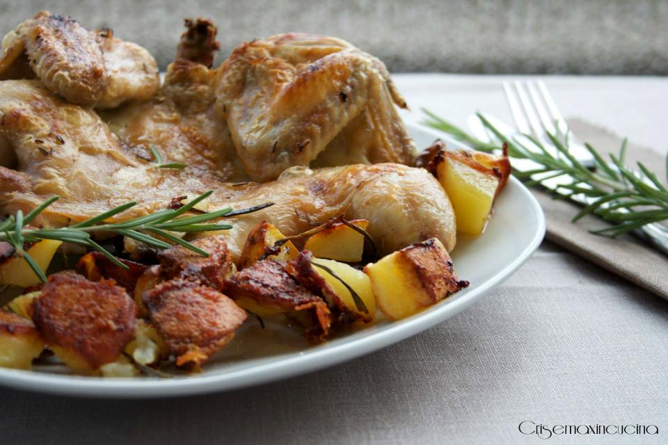 pollo al forno con patate 1
