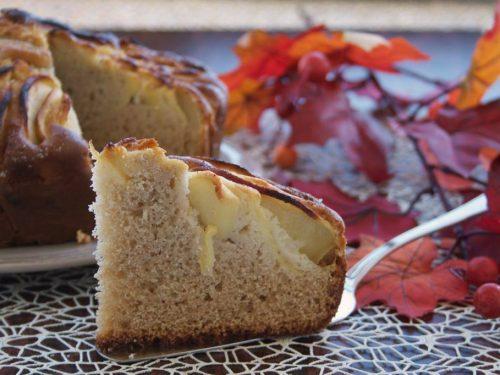 Torta rustica di mele con castagne