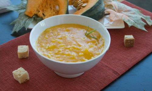 Crema di zucca con il riso