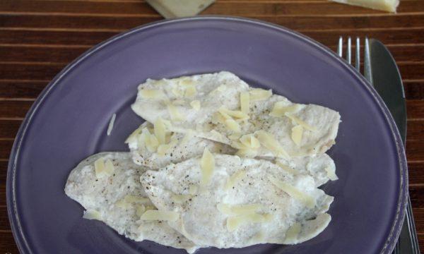 Petto di pollo al latte e parmigiano