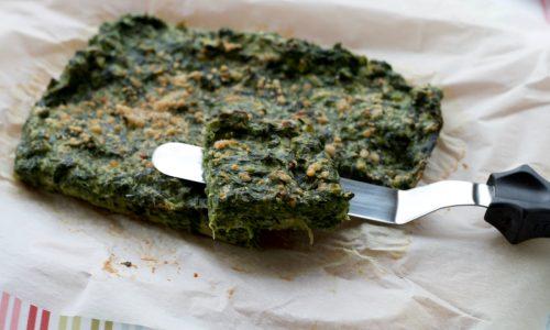 Frittata di spinaci e formaggio cotta al forno