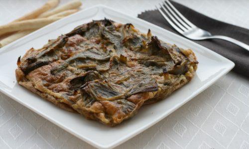 Frittata di carciofi al forno, ricetta veloce