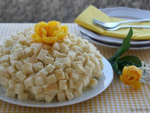 Torta mimosa, torta per la festa della donna 8 marzo.