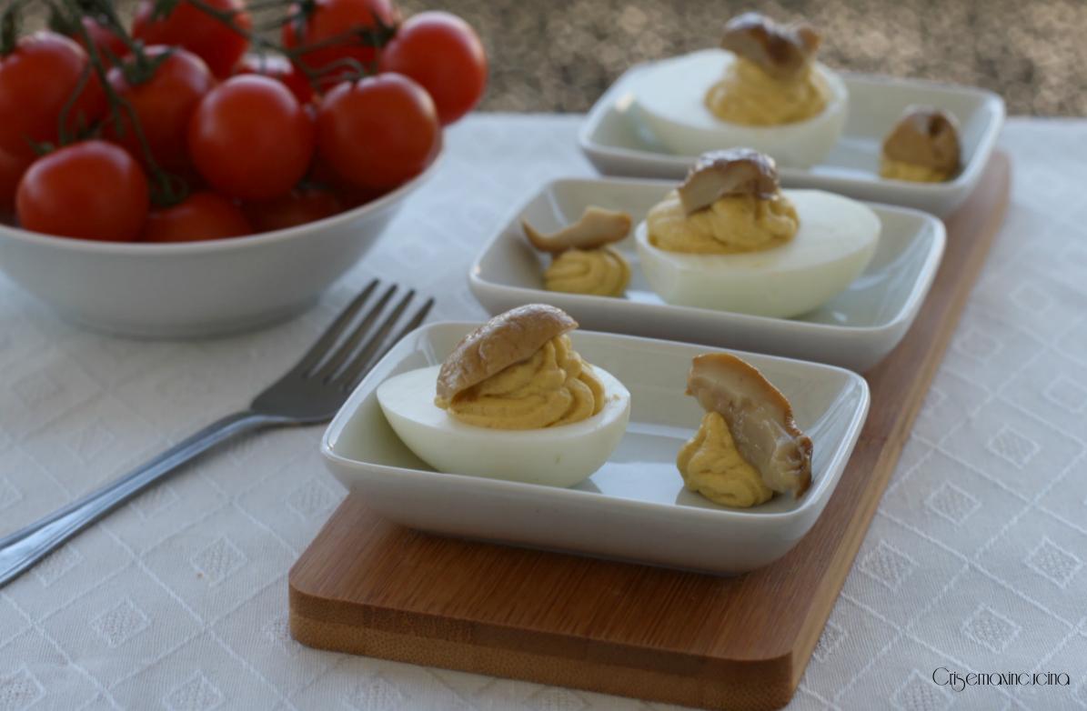 Uova Ripiene con i Funghi Porcini, Ricetta Raffinata