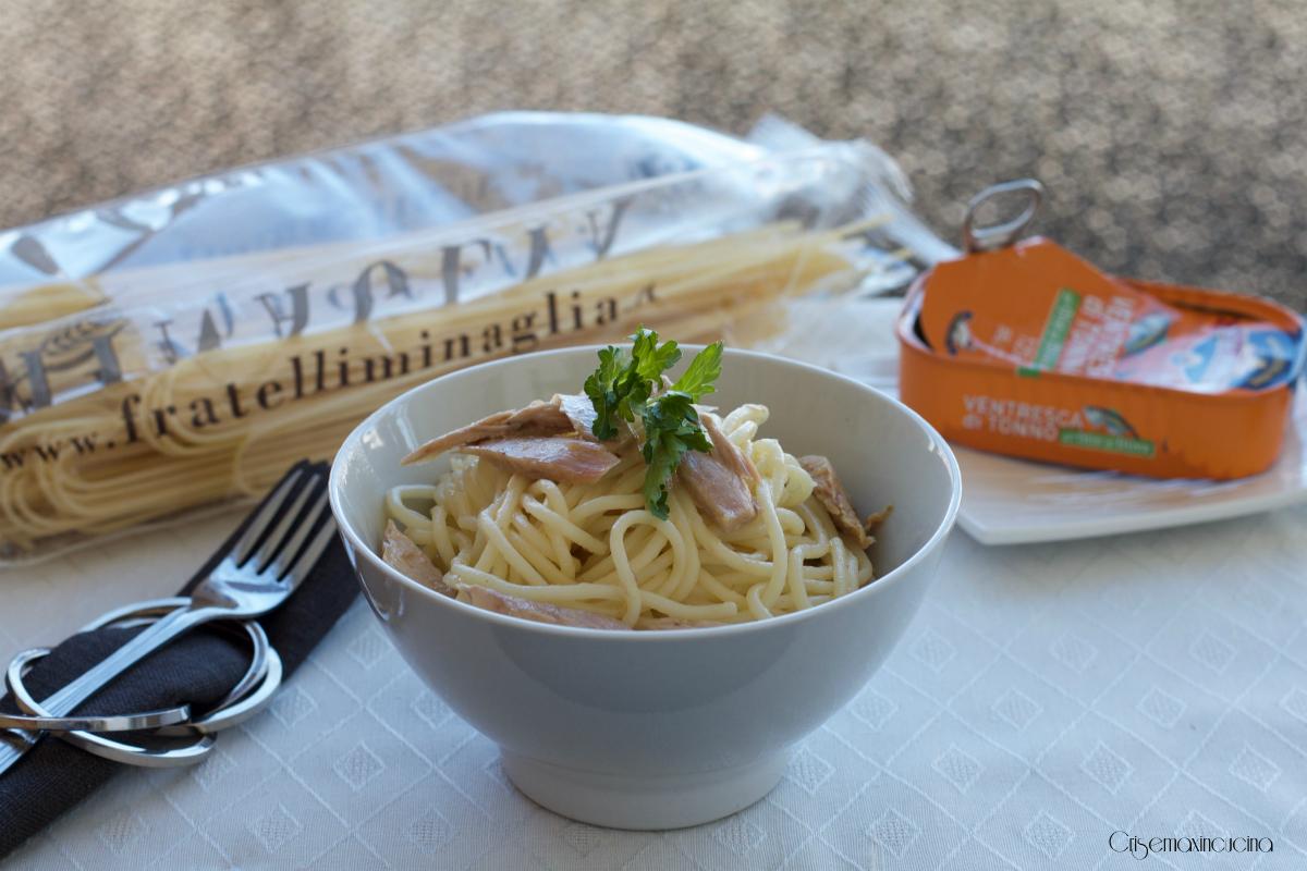 spaghetti con ventresca di tonno