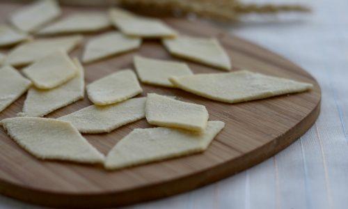 Maltagliati con farina di grano duro, ricetta senza uova