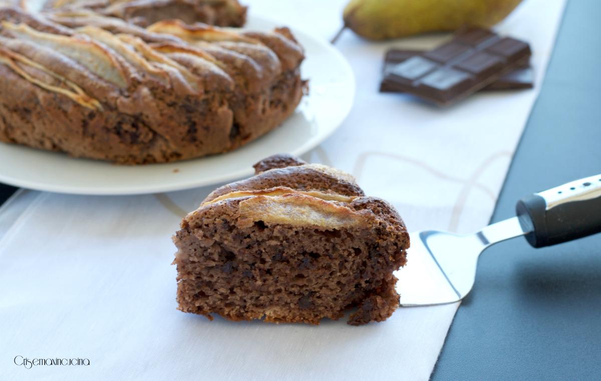 torta al cioccolato con le pere