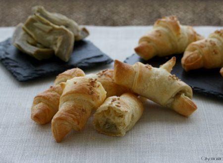 Croissant di sfoglia con crema di carciofi