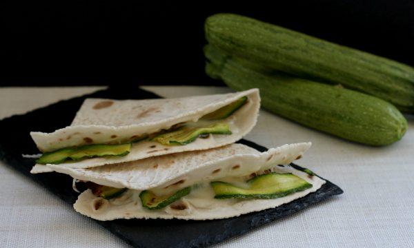 Piadina senza glutine zucchine e stracchino