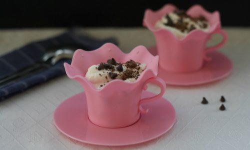 Crema alla ricotta e  gocce di cioccolato