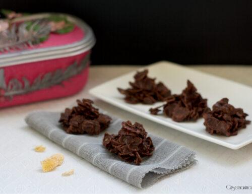 Rose del deserto al cioccolato senza glutine