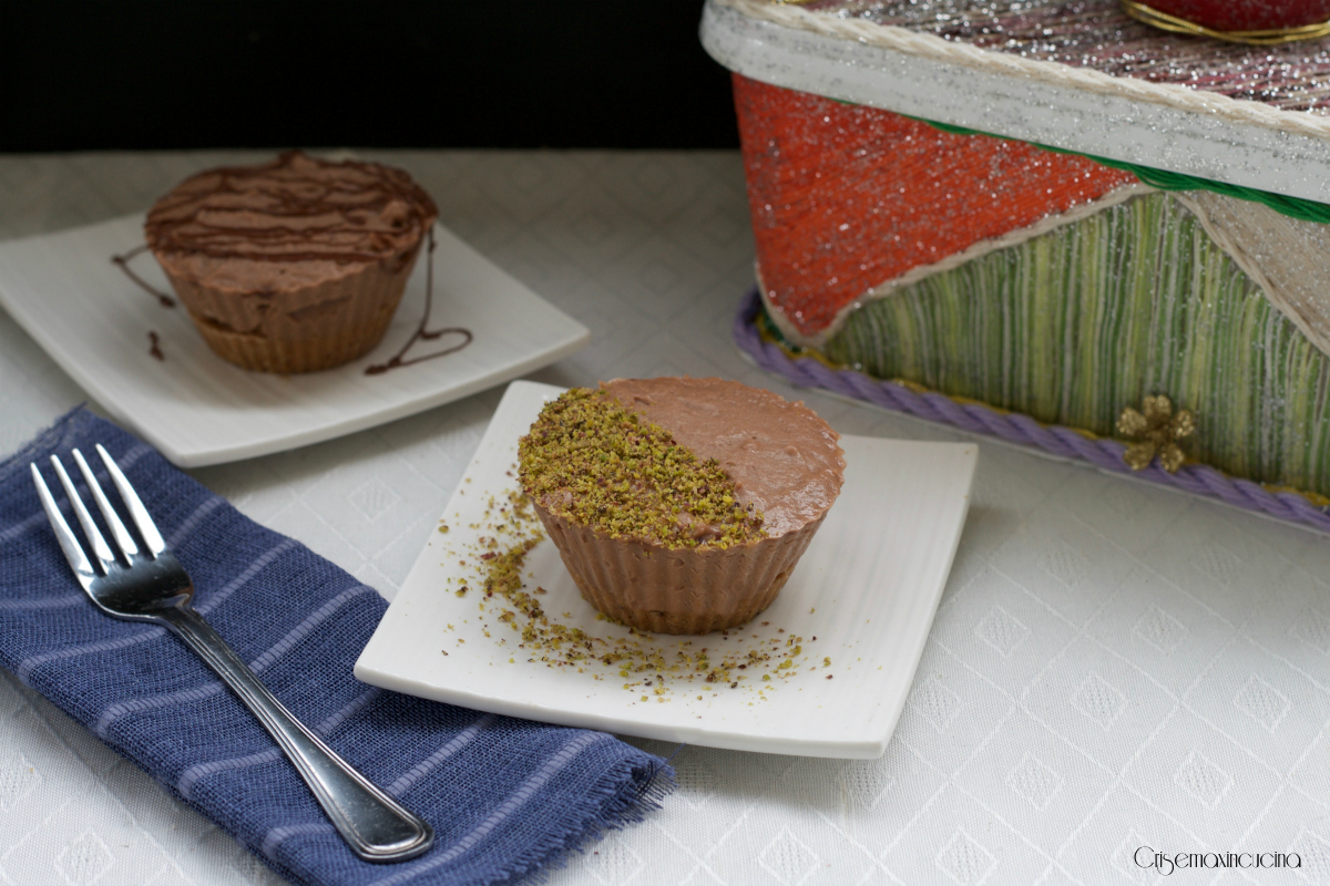 Mini cheesecake alla nutella, senza glutine