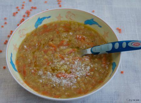 Minestra di lenticchie decorticate
