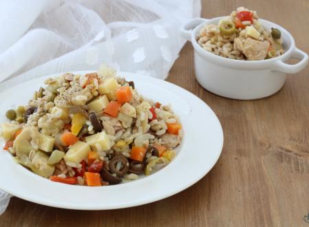 Insalata di riso ai 3 cereali, ricetta light facile e veloce