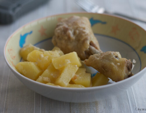 Fusi di pollo al latte con patate