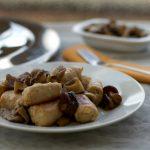 salsiccia con i funghi, ricetta con magic cooker