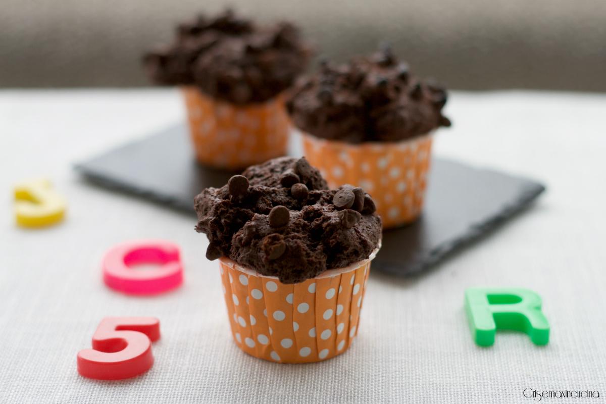 muffin al doppio cioccolato