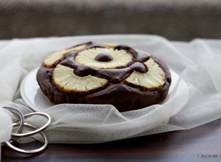 Torta al cioccolato e ananas, ricetta senza zucchero
