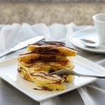 pancake con cuore di crema di nocciole