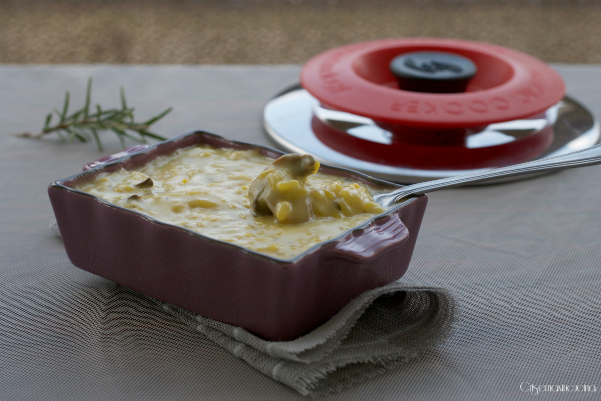 Risotto Cremoso Funghi Zafferano e Taleggio con Magic Cooker