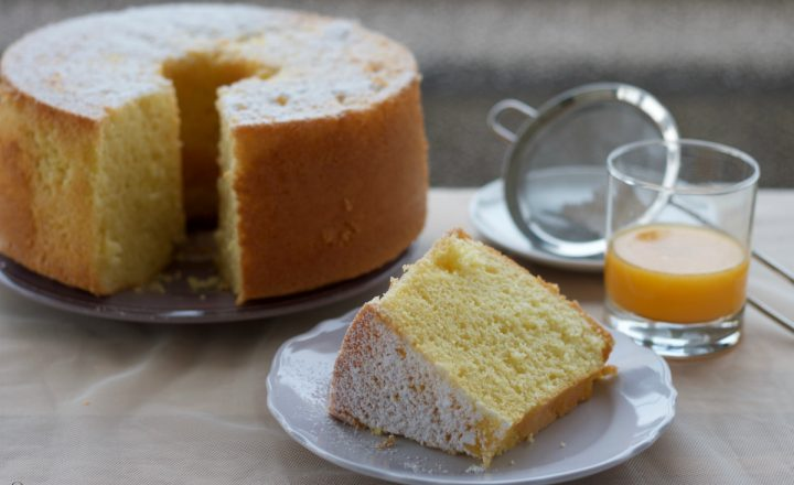 Chiffon cake all'arancia, famoso ciambellone americano