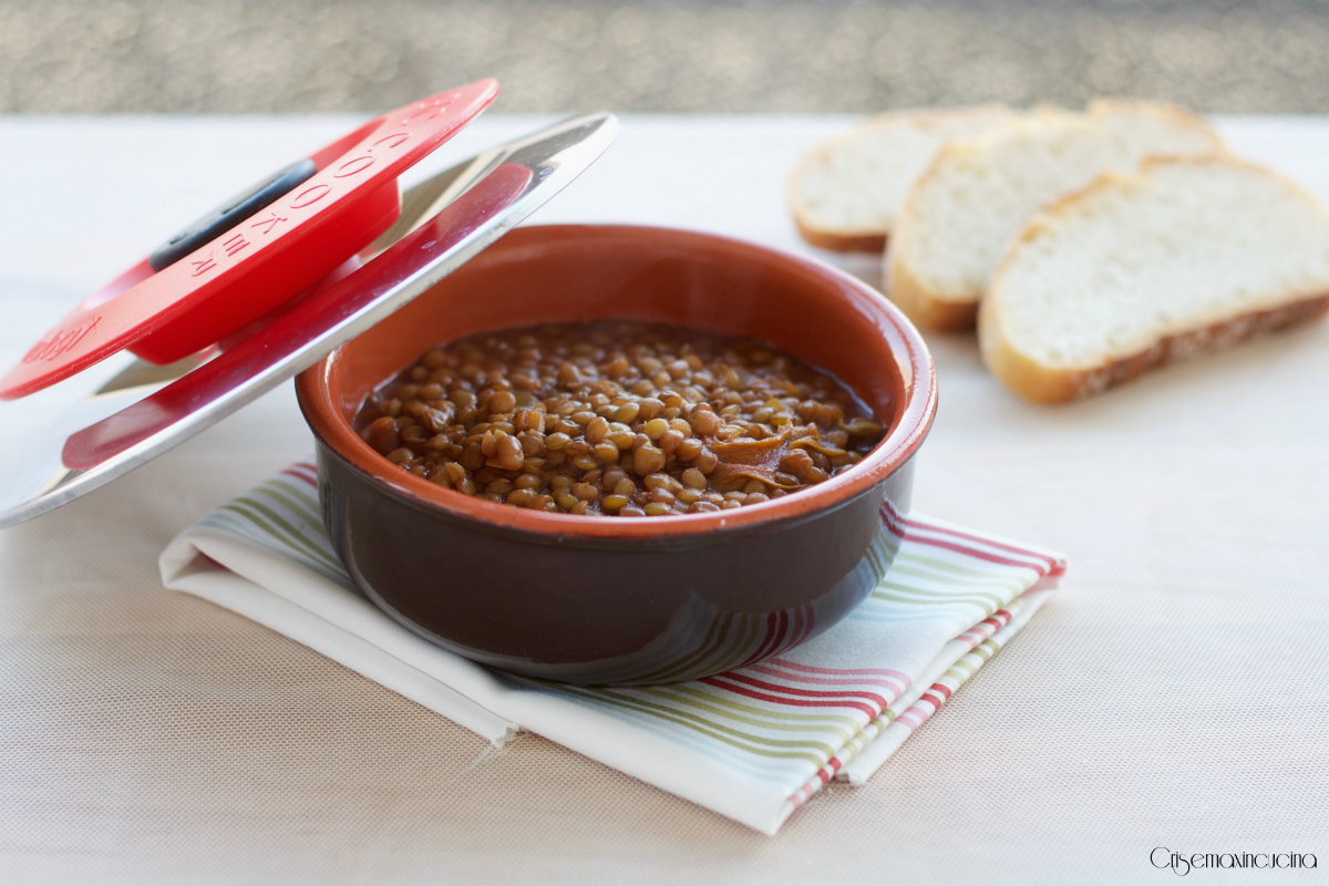 lenticchie in umido con magic cooker