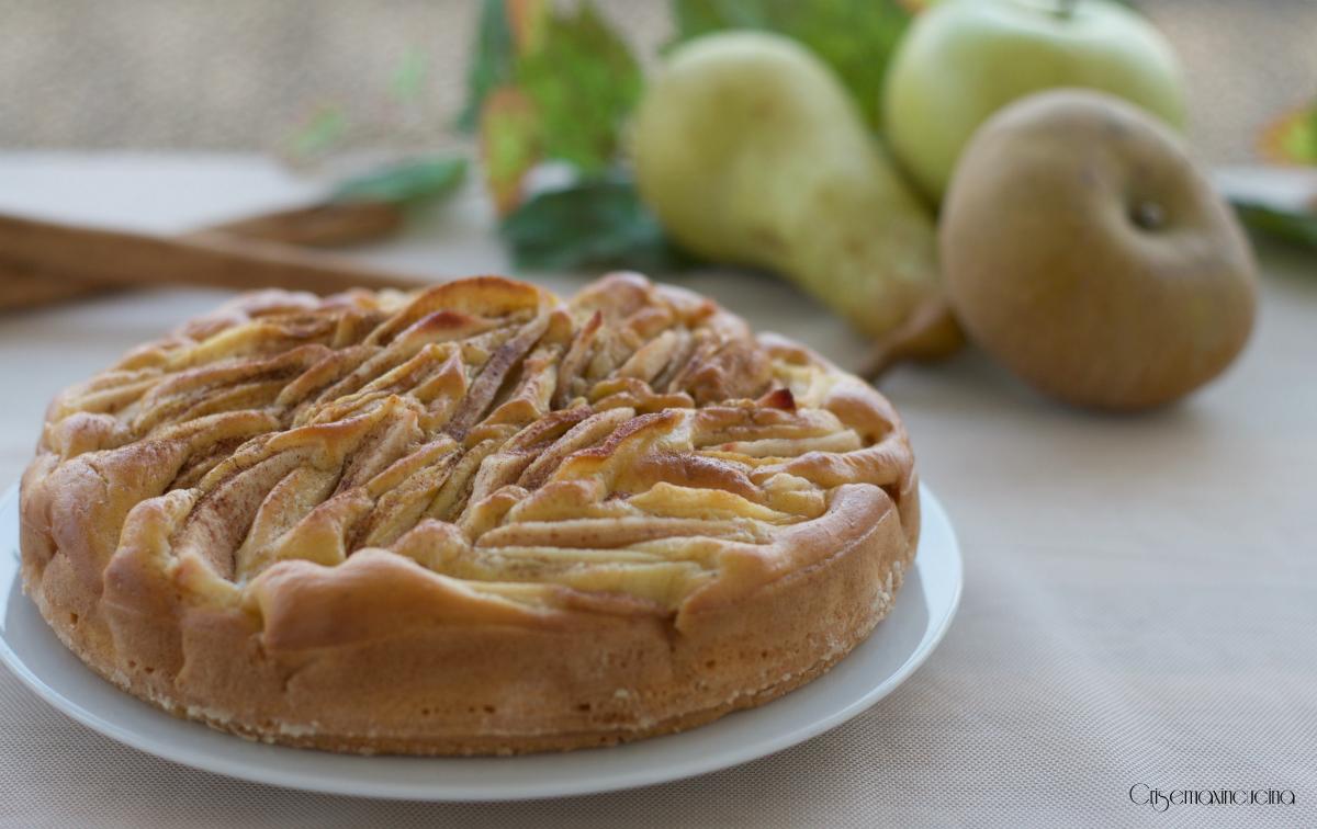 torta di mele e pere senza zucchero