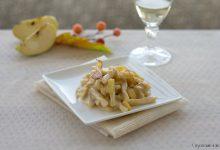 Pasta alle nocciole con taleggio e mele, ricetta elegante