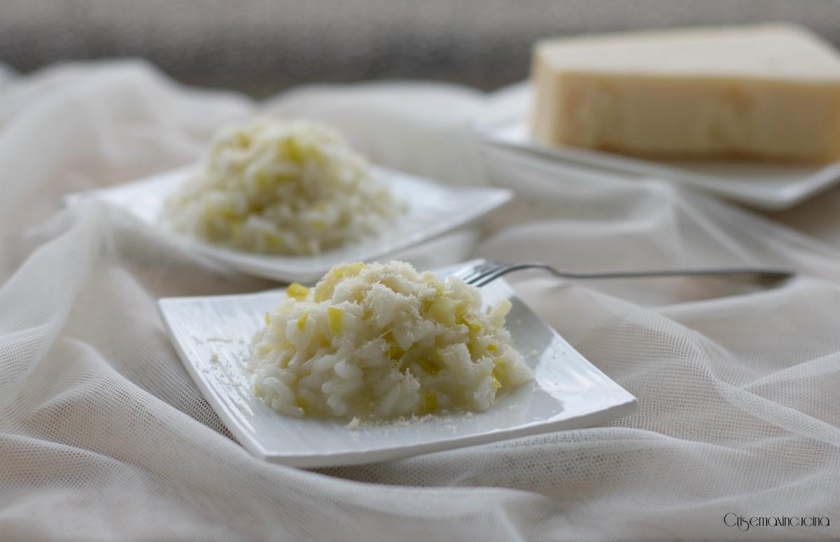 risotto porri e parmigiano