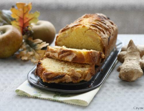 Plumcake mele e zenzero, ricetta dei 7 vasetti