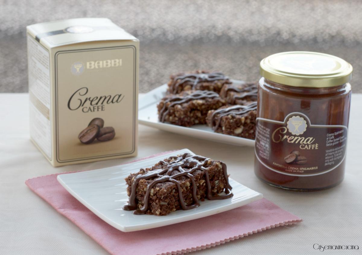 brownies alla frutta secca e crama caff'