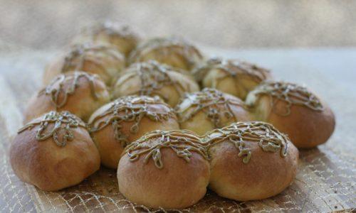 Albero di panbrioche con crema di pistacchio, ricetta natalizia