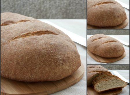 Pane tipo Roma, ricetta lievitata con farina macinata a pietra