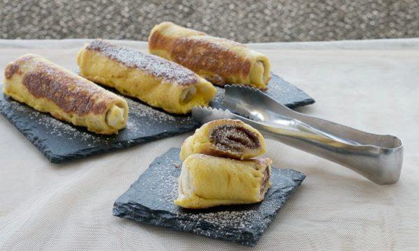 French toast roll ups con crema di nocciole, ricetta golosa