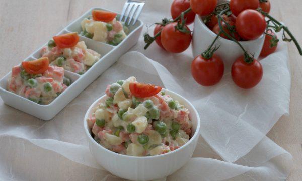 Insalata russa light, ricetta senza uova e olio